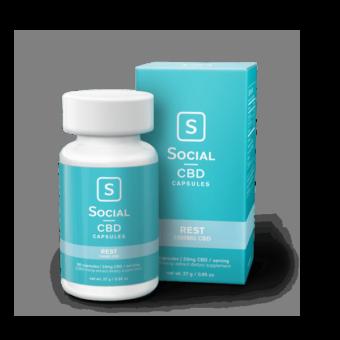 Hand selected premium quality cbd social cbd rest capsules